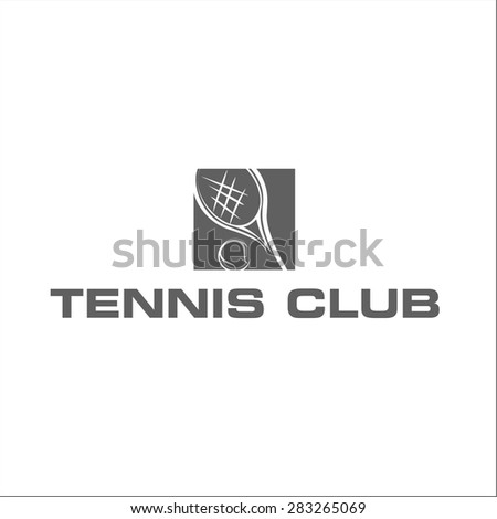 Tennis club - stock vector