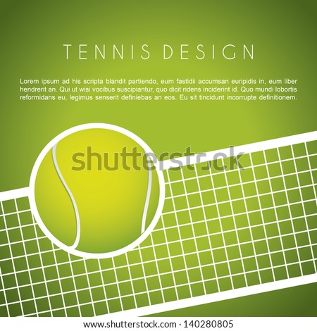tennis design over green background vector illustration - stock vector