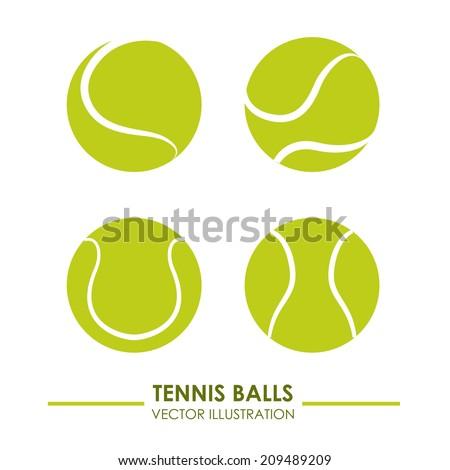 tennis design over white  background vector illustration - stock vector