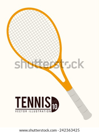 Tennis design over white background, vector illustration.