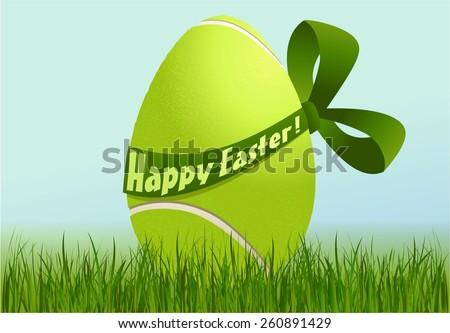 Tennis Easter egg - stock vector