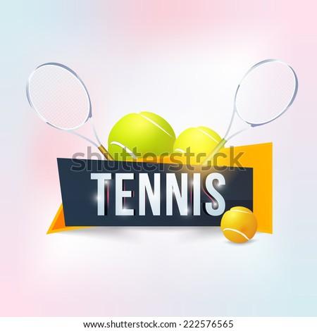 Tennis Event Website Banner Style Poster, Flyer Template Vector Background  - stock vector
