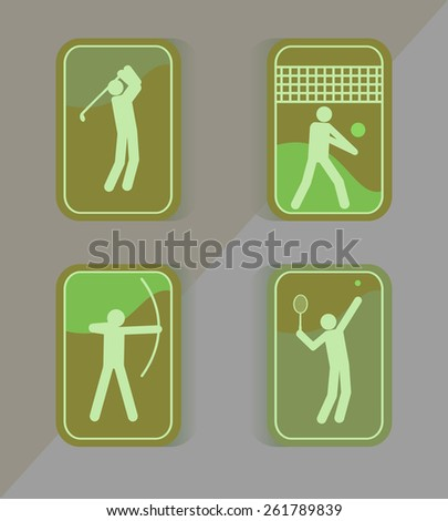 Tennis golf sport icons. - stock vector