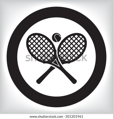 Tennis icon - stock vector