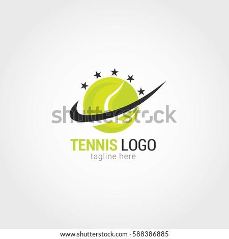 Tennis logo design template Vector  Premium Download