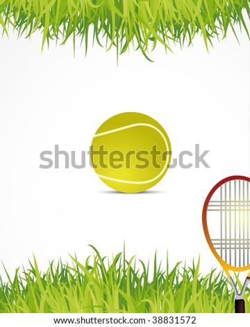 tennis poster - stock vector
