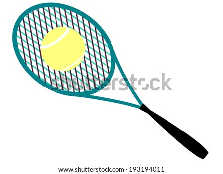 tennis racket ball - stock vector
