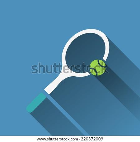 tennis racket icon  - stock vector
