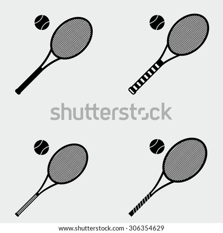 Tennis Racket Icons - stock vector