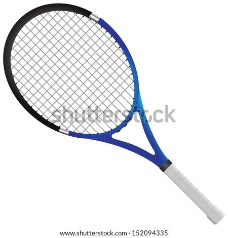 Tennis racket - tennis gear for the game. Vector illustration. - stock vector