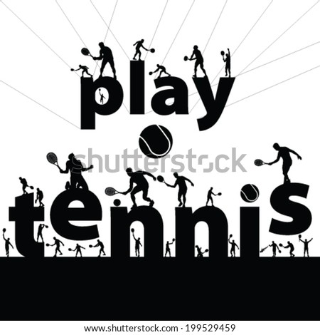 tennis symbol vector illustration - stock vector