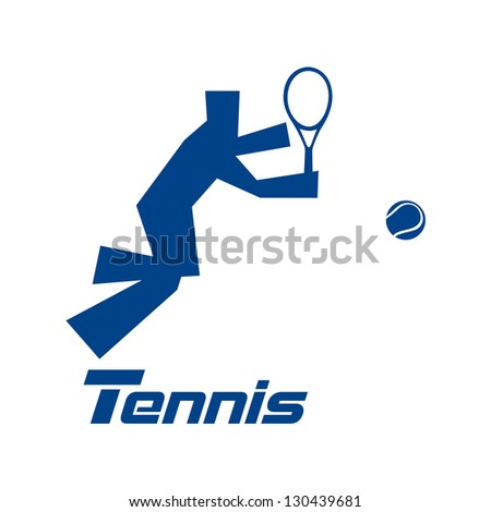 Tennis, vector - stock vector