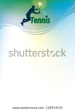 tennis, vector background for blank - stock vector