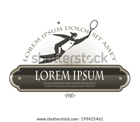 Tennis. Vector format - stock vector