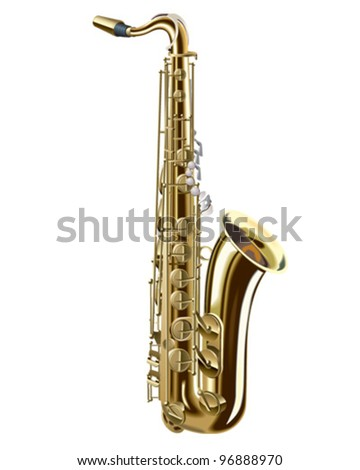 Tenor Saxophone - stock vector