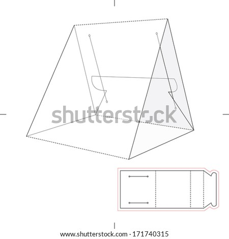Triangle box stock images royalty free images vectors tent product display with blueprint layout malvernweather Images