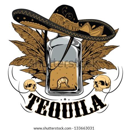 Tequila - stock vector