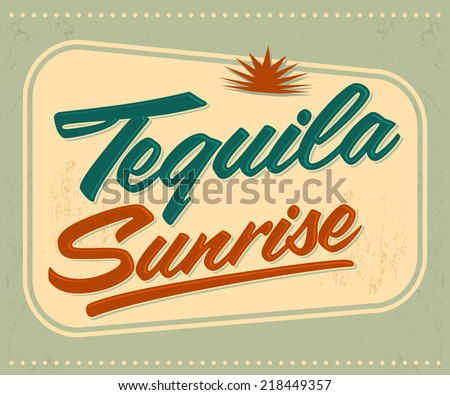 tequila sunrise vector sign lettering mexican stock vector 2018 rh shutterstock com Mountain Sunrise Clip Art Sunrise Over Water Clip Art