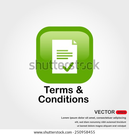 terms and conditions icon with white background - stock vector