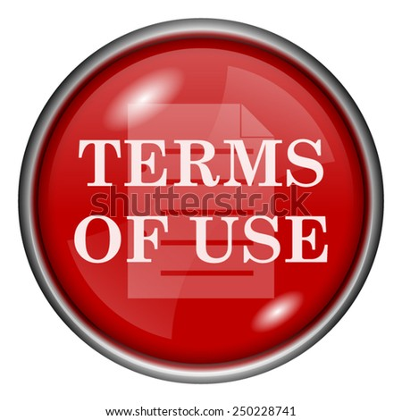 Terms of use icon. Internet button on white background.  - stock vector