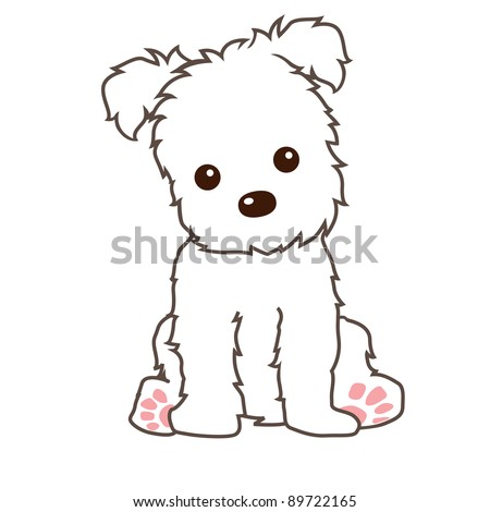 terrier dog vector - stock vector