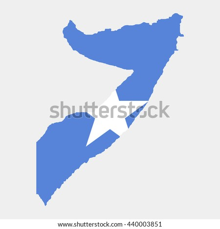 Territory and flag of Somalia - stock vector