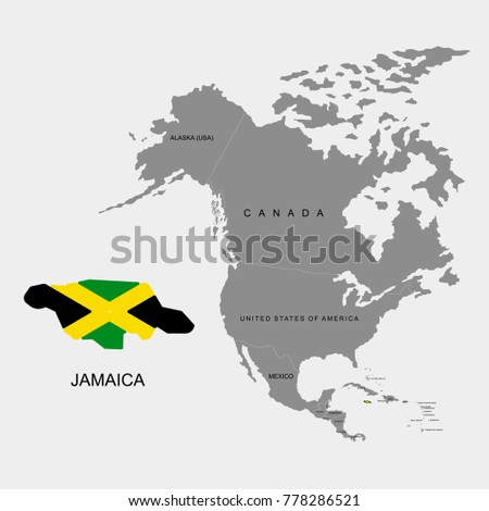 Territory Jamaica On North America Continent Stock Vector 778286521