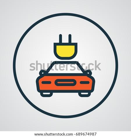 Tesla Colorful Outline Symbol Premium Quality Stock Vector 689674987