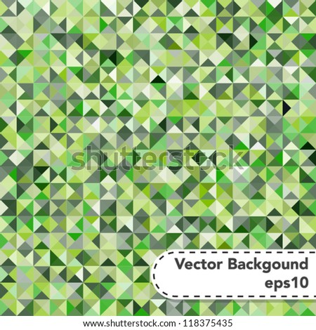 Tessellating Abstract Green Background - stock vector