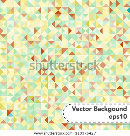 Tessellating Abstract Pastel Colored Background - stock vector