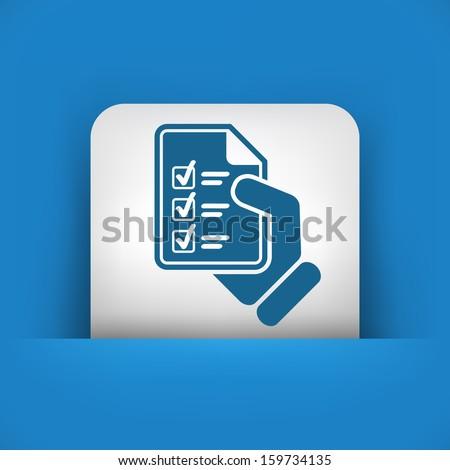 Test document - stock vector