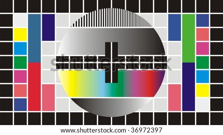 Test Pattern for Wide Screen TV, vector illustration