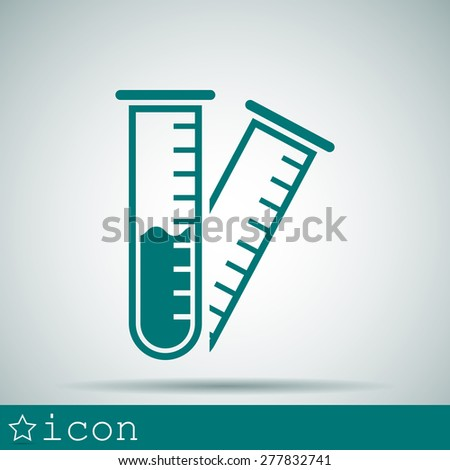 test-tube icon - stock vector