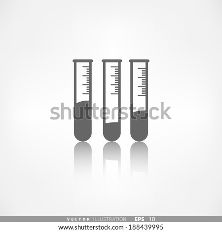 Test tube icon, microbiology equipment - stock vector