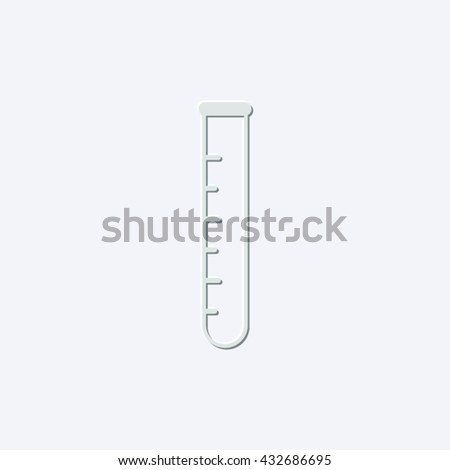 test-tube - light gray vector icon