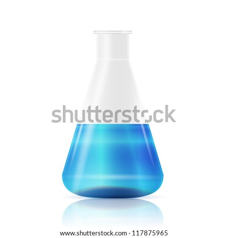 Test tube, vector - stock vector