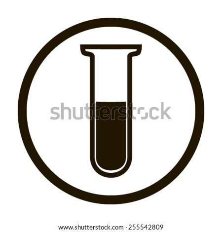 Test tube vector icon - stock vector