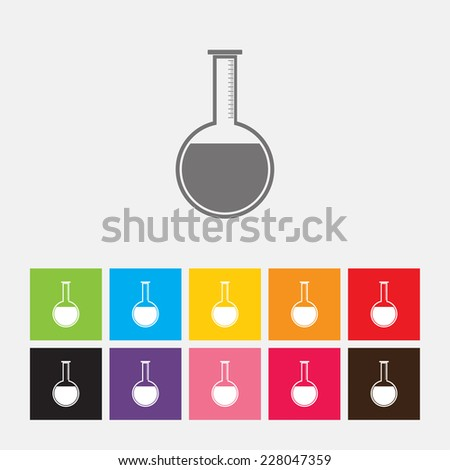 Test tubes icon - Vector - stock vector