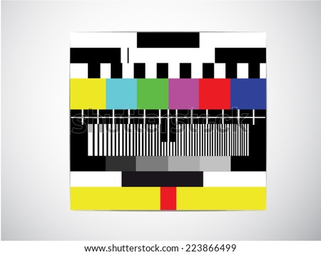 Test tv screen background, when channel tv have technical problems, Vector illustration - stock vector