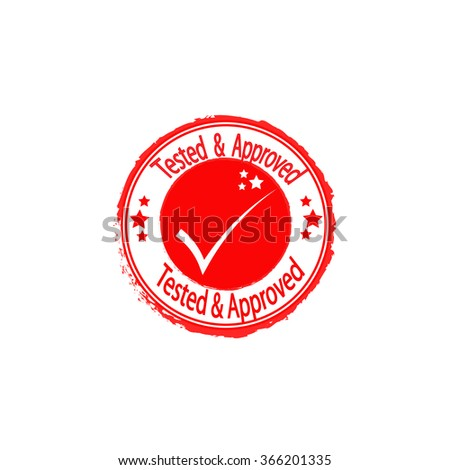 tested and approved vector icon  - stock vector