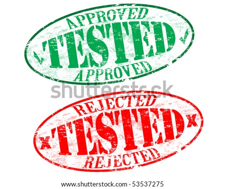 Tested stamps - approved and rejected - stock vector