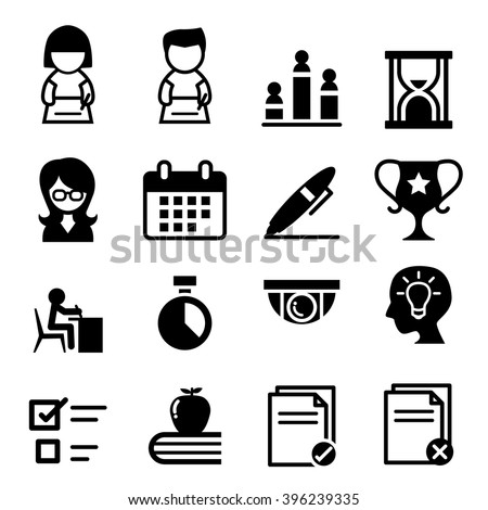 Testing, Examination, Survey icon - stock vector