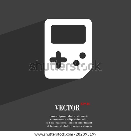 Tetris  icon symbol Flat modern web design with long shadow and space for your text. Vector illustration - stock vector