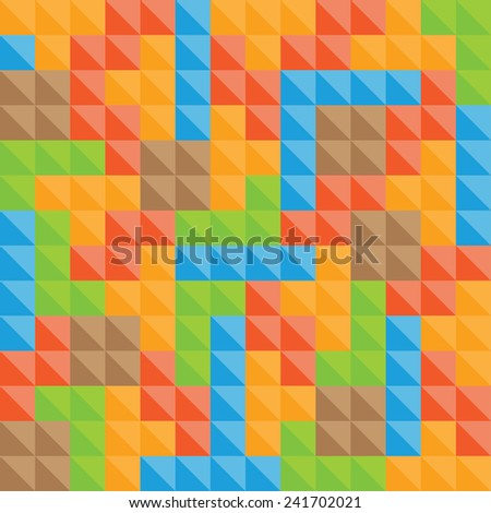 Tetris pieces pattern - stock vector