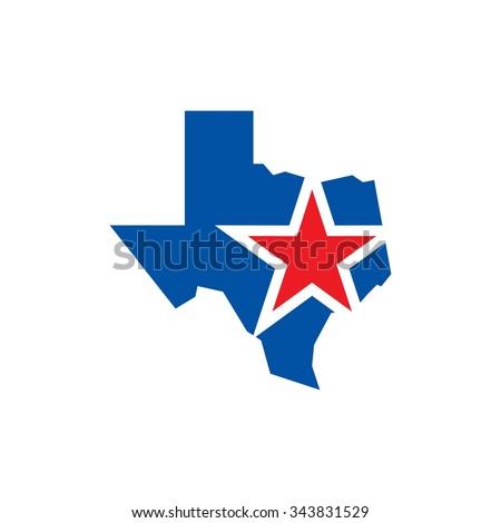 texas logo vector. lone star of texas logo vector. - stock vector