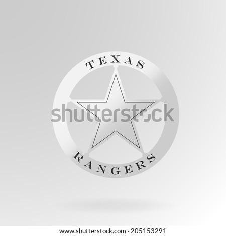 Texas Ranger badge. Vector - stock vector