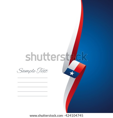 Texas right side brochure cover vector - stock vector
