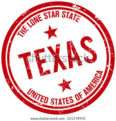 texas stamp - stock vector