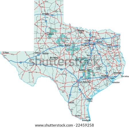 Texas Road Map Stock Images RoyaltyFree Images Vectors - Free us road map