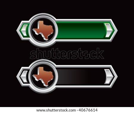 texas state on green and black arrows